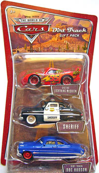 Cactus McQueen, Dirt Track Doc Hudson, Sheriff - 3 Pack
