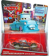Dragon Lightning McQueen with Oil Stains - Cars Toon - Tokyo Mater