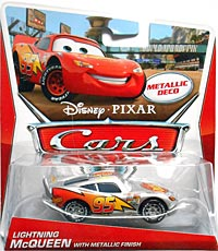 Lightning McQueen with Metallic Finish - Metallic Deco