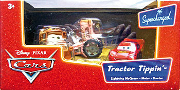 Tractor, Mater, Lightning McQueen (without Rusteze sticker) - 3 Pack