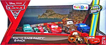 Cars 2 - Tokyo Race Party - 5 Pack