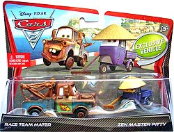 Race Team Mater & Zen Master pitty - Movie Moments