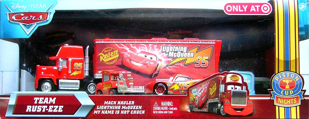 Lightning Mcqueen Mack Truck Hauler : Chuck mack hauler lightning mcqueen with rusteze sticker