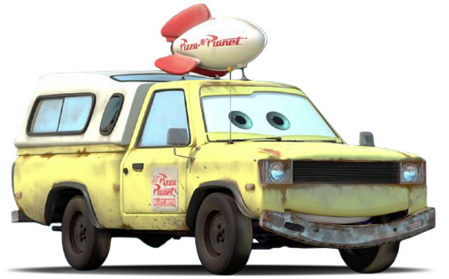 world of cars pr sentation du personnage todd the pizza planet truck. Black Bedroom Furniture Sets. Home Design Ideas
