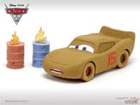 Lightning McQueen as Chester Whipplefilter (rubber tires)