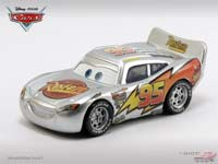 Lightning McQueen with Metallic Finish (Silver - Cars)