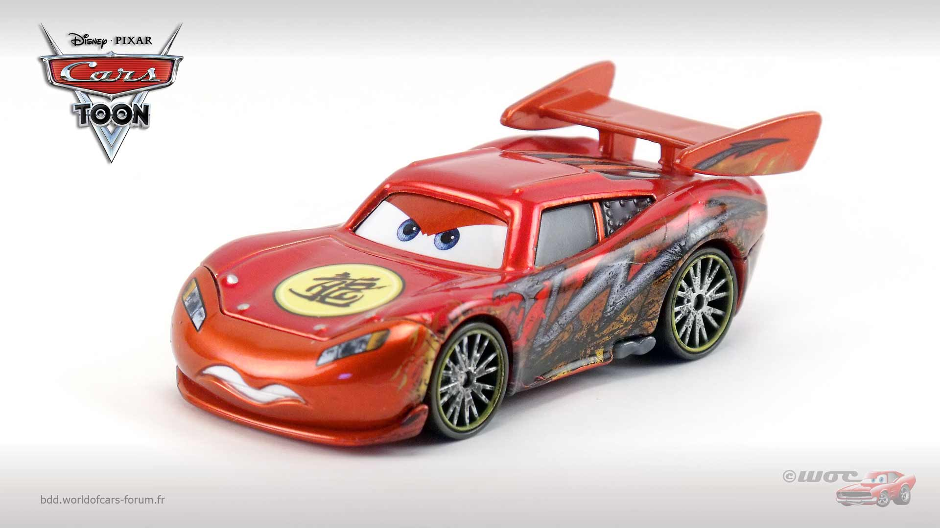 Dragon Lightning McQueen with Metallic Finish