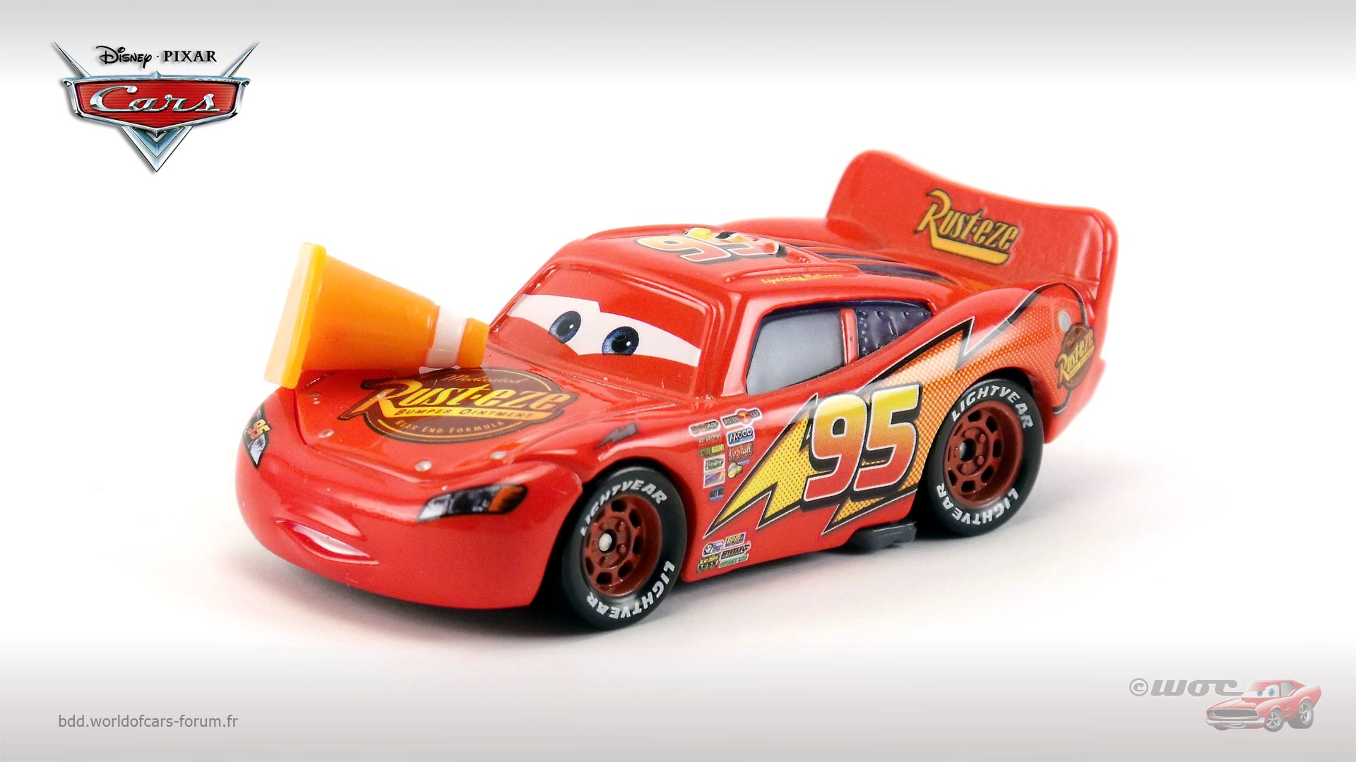 Lightning McQueen with Cone